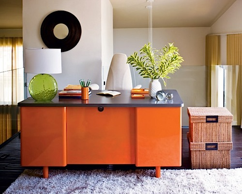 Kombinasi warna cat rumah minimalis orange - Desaininterior