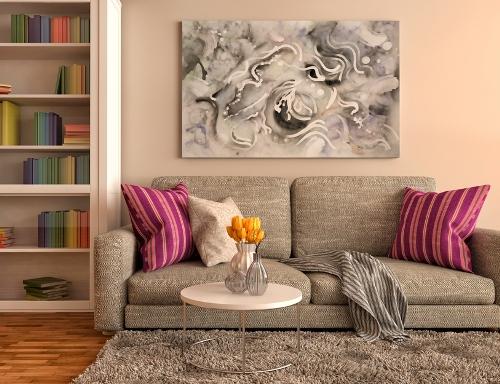 Lukisan dan rak sebagai Focal point - Shutterstock