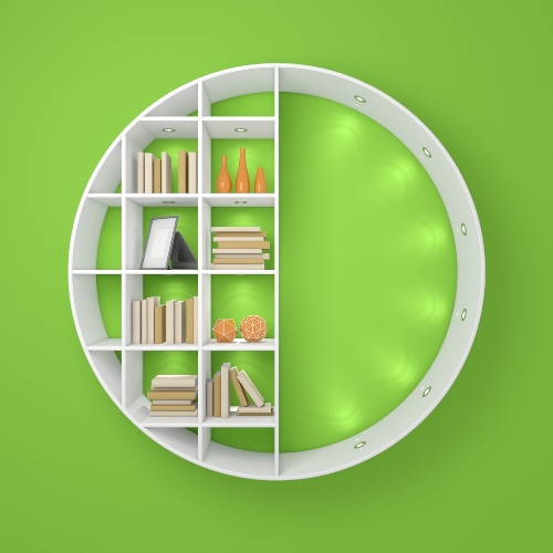 Rak gantung model bulat - Shutterstock