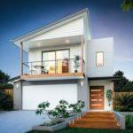 Model Rumah Minimalis 2 Lantai dengan Atap Skillion