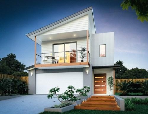 Rumah Minimalis 2 Lantai dengan Atap Skillion - Domainstatic
