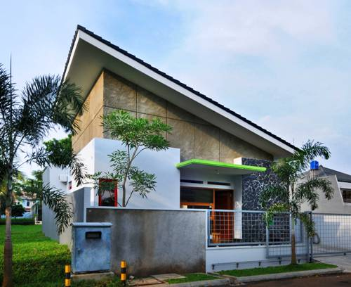 Rumah minimalis 2 lantai dengan atap skillion tunggal - Ideaonline