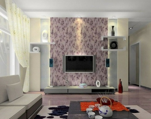 Wallpaper bernuansa lembut di rumah minimalis type 36 - 1decor