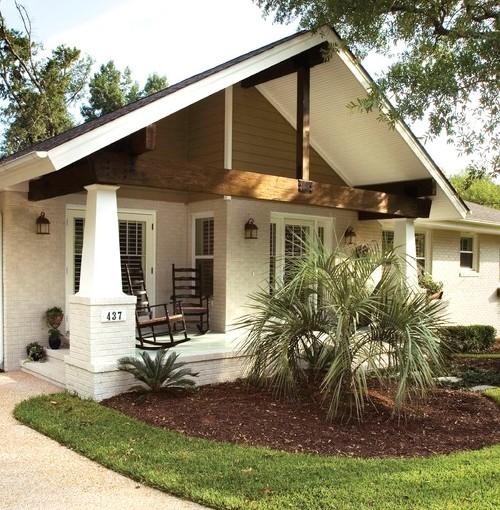 Atap rumah dan teras bergaya country -  Homedesignfind