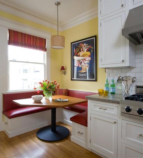 Breakfast nook dengan ruang penyimpanan di bawah kursi -Barnraiser
