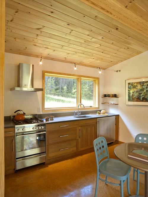 Dapur rumah kayu minimalis modern - Houzz