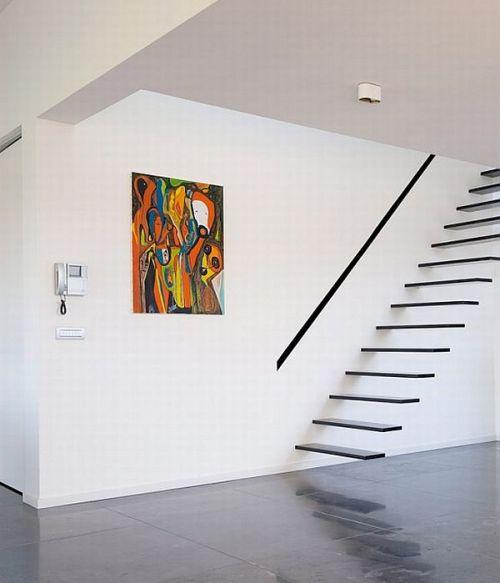 Desain tangga rumah minimalis modular floating style - Homedit