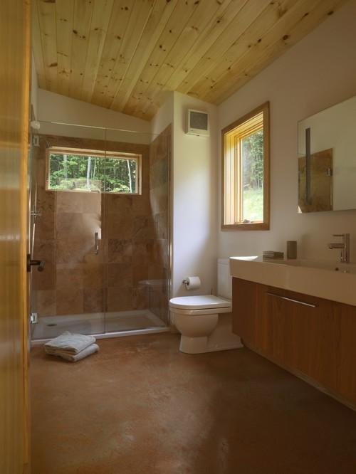 Kamar mandi di rumah kabin - Houzz