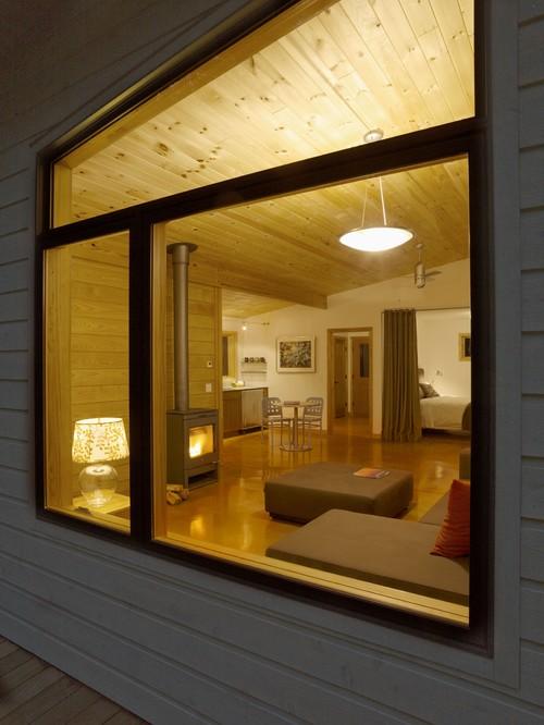 Model fixed windows di rumah kabin - Houzz