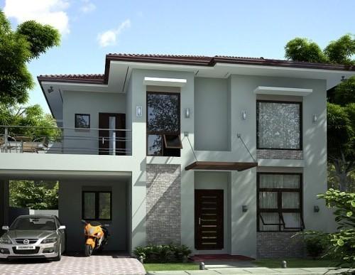 Rumah idaman minimalis 2 lantai dengan awning windows Mustwatchhomeideas