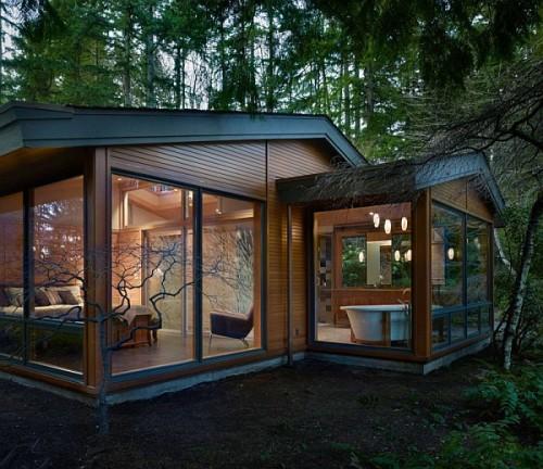 Rumah kaca transparan dengan Lambersering - Decoist