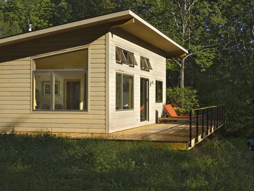 Eksterior Rumah kayu minimalis - Houzz