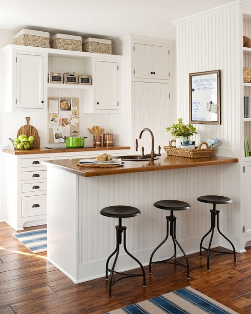 Dapur beach style dengan elemen papan kayu - Tuvaluhome