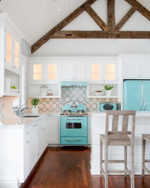 Dapur bernuansa pantai dengan elemen aqua - Cranberradental