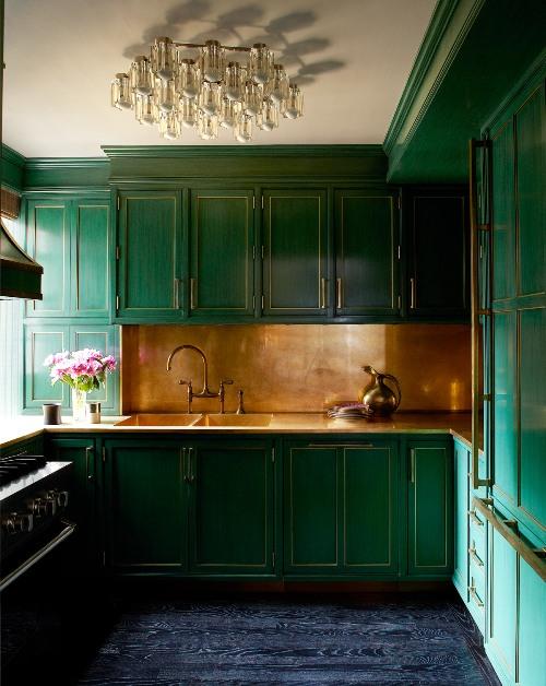 Desain dapur apartemen milik Cameron Diaz -Elledecor