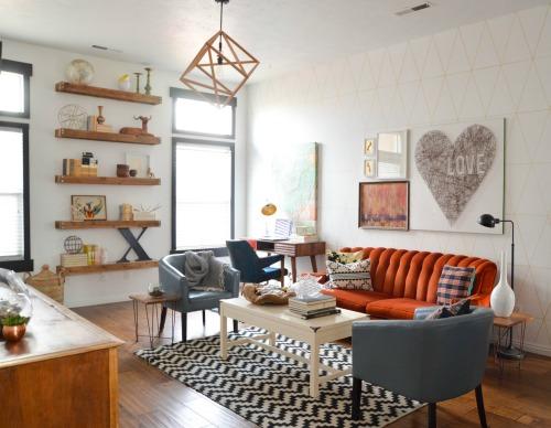 Desain interior ruang tamu vintage -Damascusfortune
