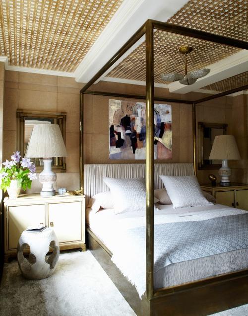 Desain kamar tidur apartemen milik Cameron Diaz -Elledecor