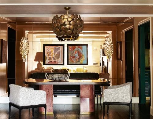 Desain ruang serba guna apartemen Cameron Diaz -Elledecor