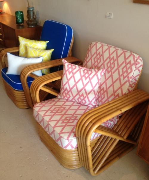 Furniture teras minimalis berbahan rotan -Fleurstudio