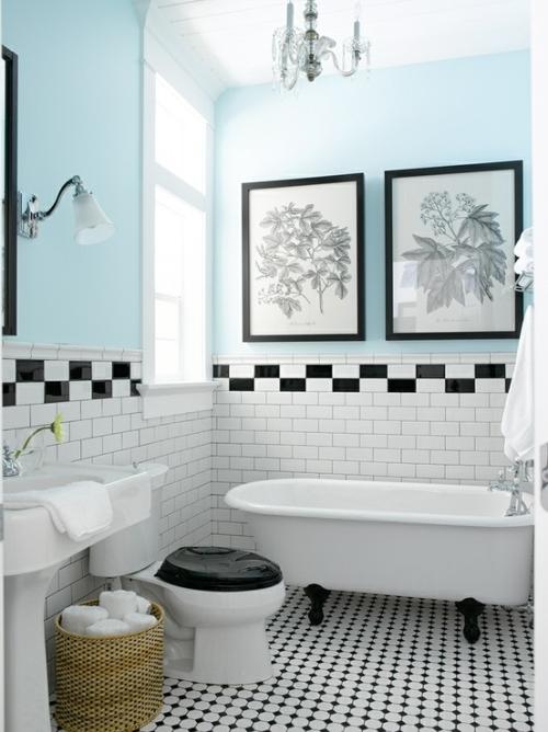 Kamar mandi bergaya vintage - Bathroomideas