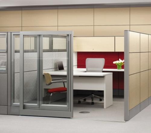 Sekat non-paermanen pada interior kantor - Catalogshomedecor