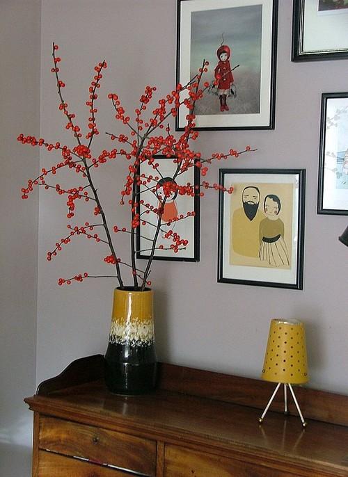 Vas keramik dan bunga akrilik bernuansa vintage - Houzz