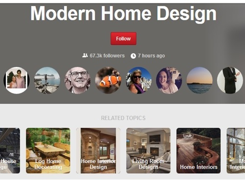 Contoh koleksi akun desain interior - Pinterest