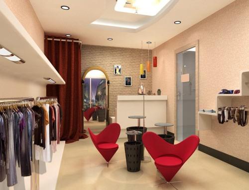 Kamar pas pada desain interior butik - Download3dhouse