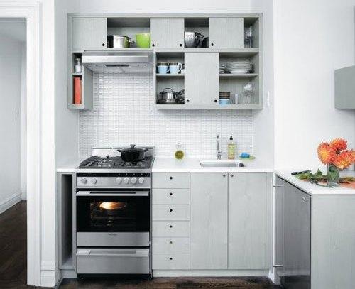 Rak pada desain dapur minimalis - Carawalz