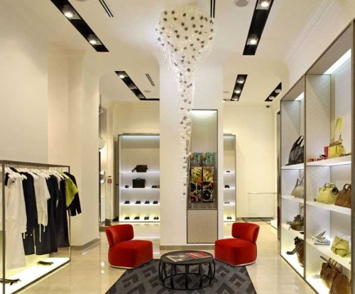 Sofa minimalis pada interior butik - Vectronstudios