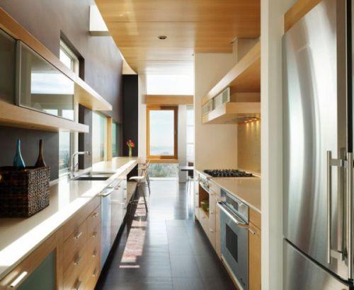 Desain dapur minimalis modern model doble line - Homedit