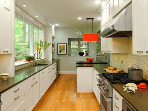 Desain dapur rumah minimalis Double Line - Cheryl Dula (Pinterest)