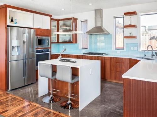 Desain interior dapur minimalis dengan kitchen island - Freshome