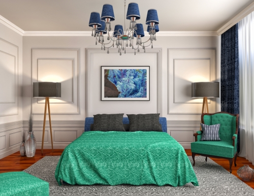 Desain interior rumah mungil berwarna toska - Shutterstock