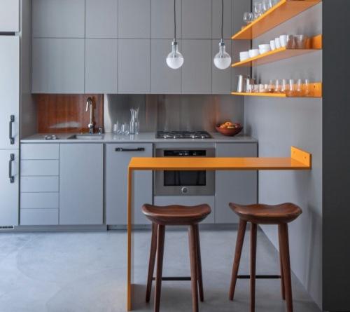 Interior dapur minimalis modern dengan kitchen island - Freshome