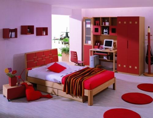 Kamar tidur utama dengan kombinasi 2 warna (Zerodecor)