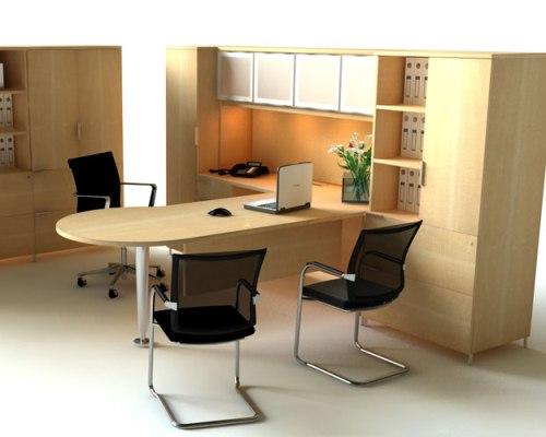 Kursi kerja minimalis dengan model simple - Stoic-design