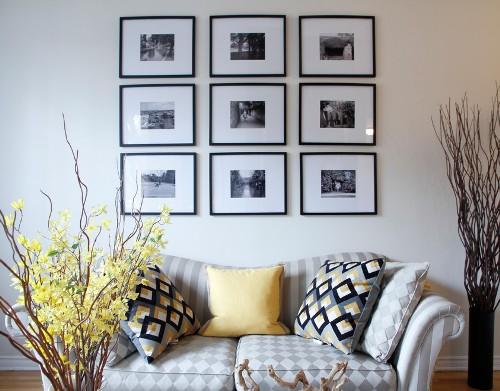 Contoh kolase foto di ruang minimalis (Memorabledecor)