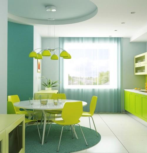 Dapur Go Green dengan nuansa hijau (Maidbrigade)