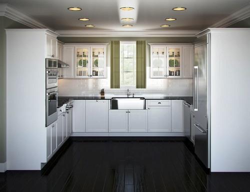 Desain lemari dapur model U (Skullscreamers)