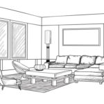 Sketsa Desain Interior untuk Jendela Rumah Minimalis