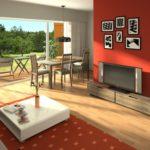 Desain Interior Ruang Makan Menyatu Dengan Ruang Keluarga