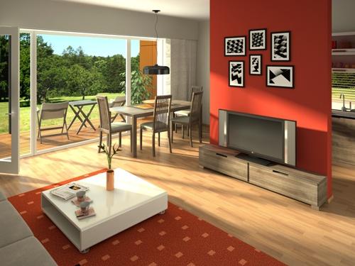 Desain Interior Ruang Makan dan Ruang Keluarga (Fotolia)