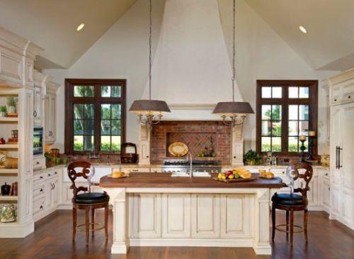 Desain dapur minimalis modern dengan bata ekspose (Homedit)