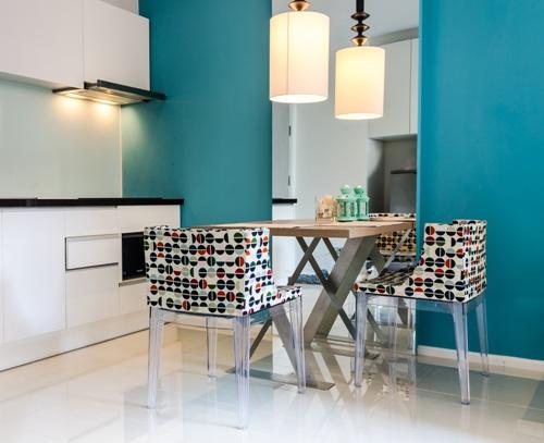 Focal point di ruang makan dan dapur yang menyatu - Fotolia