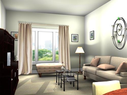 Gorden untuk interior apartemen minimalis (Pamcakedesigns)