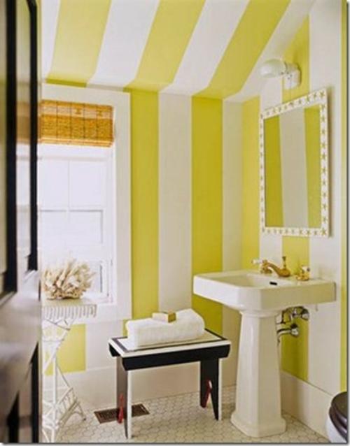 Kamar mandi minimalis bernuansa kuning (Architectureartdesigns)