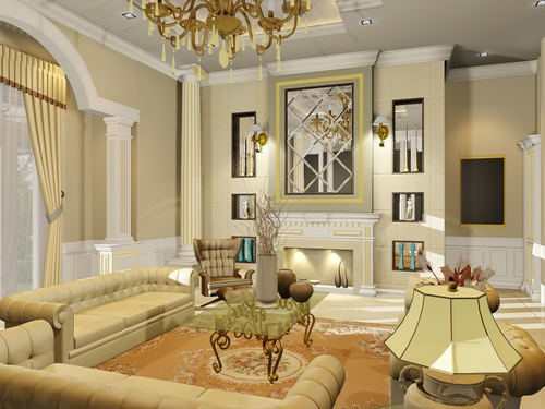 Sofa mewah bernuansa lembut untuk interior rumah mewah (Byzanthium-interior)