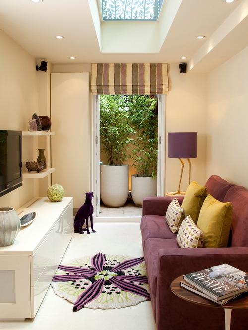 Desain Interior Ruang Keluarga Tanpa Meja (Houzz)