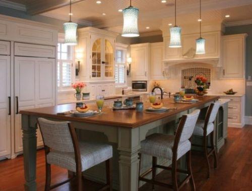 Desain interior dapur klasik berkapasitas besar (Homedit)